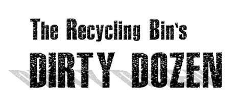 Recycling Bin's Dirty Dozen Contaminants